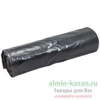 Мешок (пакет) мусорный   240л 900х1400 мм 50 мкм в рулоне ПВД ЧЕРНЫЙ   1/10/80