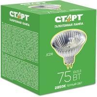 Лампа галогенная GU5.3 теплый свет 75W 220V СТАРТ 1/10