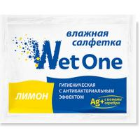 Салфетка влажная 1 шт в индивидуальной упак ЛИМОН антибактериальная 1/250/1000
