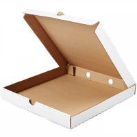 Коробка для пиццы ДхШхВ 355х355х40 мм квадратная КАРТОН БЕЛЫЙ 1/50