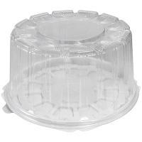 Упаковка кондитерская (тортница) Н116хD226 мм на 0,9 кг круглая дно+крышка КОМУС 1/190