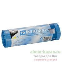 Мешок (пакет) мусорный   120л 700х1100 мм 10 шт/рул 18 мкм ПВД СИНИЙ   ''PAPSTAR''   1/12