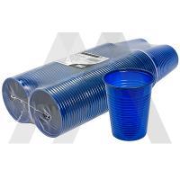 Стаканчик пластиковый   180мл D70 мм PS СИНИЙ   ''PAPSTAR''   1/100/1000