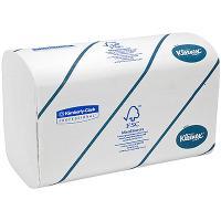 Полотенце бумажное листовое 2-сл 124 лист/уп 215х315 мм Z-сложения KLEENEX БЕЛОЕ KIMBERLY-CLARK 1/30