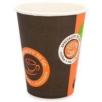 Стакан бумажный 300мл D90 мм 1-сл для горячих напитков COFFE-TO-GO HUHTAMAKI 1/50/1000