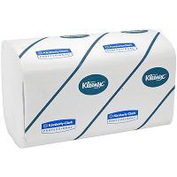 Полотенце бумажное листовое 3-сл 96 лист/уп 215х315 мм Z-сложения KLEENEX БЕЛОЕ KIMBERLY-CLARK 1/30
