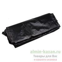 Мешок (пакет) мусорный   220л 880х1250 мм 50 мкм в пластах ПВД ЧЕРНЫЙ   1/50/200