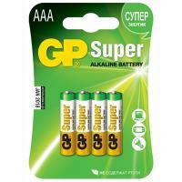 Батарейка AAA 4 шт/уп GP SUPER в блистере GP 1/10