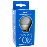 Лампа светодиодная E27 холодный свет 10W 220V груша СТАРТ 1/50