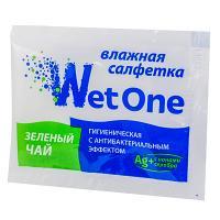 Салфетка влажная 1 шт в индивидуальной упак ЗЕЛЕНЫЙ ЧАЙ 1/250/1000