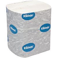 Бумага туалетная листовая 2-сл 200 лист/уп ДхШ 186х125 мм KLEENEX БЕЛАЯ KIMBERLY-CLARK 1/36