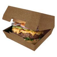 Упаковка для гамбургера ДхШхВ 115х115х60 мм КРАФТ GDC 1/50/150
