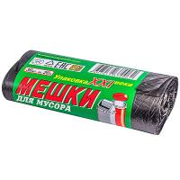 Мешок (пакет) мусорный 20л 420х500 мм 30 шт/рул 6 мкм ПНД ЧЕРНЫЙ 1/100