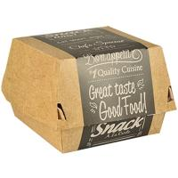 Упаковка для гамбургера ДхШхВ 115х110х70 мм с дизайном GOOD FOOD! ЭКО КАРТОН PAPSTAR 1/125/500