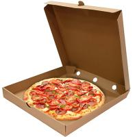 Коробка для пиццы ДхШхВ 325х325х40 мм квадратная КАРТОН КРАФТ 1/50