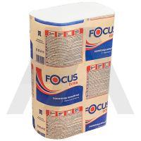 Полотенце бумажное листовое 225х240 мм 2-сл 200 шт/уп Z-сложения FOCUS EXTRA с тиснением БЕЛОЕ