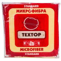 Салфетка микроволоконная ДхШ 290х290 мм 1 шт/уп STANDART ЦВЕТ В АССОРТИМЕНТЕ TEXTOP 1/100