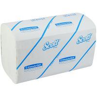 Полотенце бумажное листовое 1-сл 212 лист/уп 215х315 мм Z-сложения SCOTT БЕЛОЕ KIMBERLY-CLARK 1/15