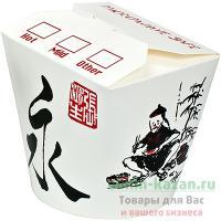 Контейнер бумажный CHINA PACK 750мл Н95хD90 мм с декором КИТАЙ DC 1/50/500