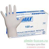 Перчатки одноразовые ЛАТЕКСНЫЕ M   100 шт/уп БЕЛЫЕ   1/30