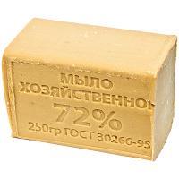 Мыло хозяйственное 250г 72% без упаковки ТЕМНОЕ 1/48
