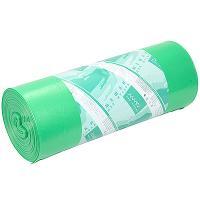 Мешок (пакет) мусорный 180л 900х1100 мм 70 мкм в рулоне ПВД ЗЕЛЕНЫЙ /\/\/\/\|/\/ 1/25