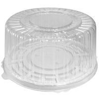 Упаковка кондитерская (тортница) Н126хD270 мм на 1,5 кг круглая дно+крышка КОМУС 1/100